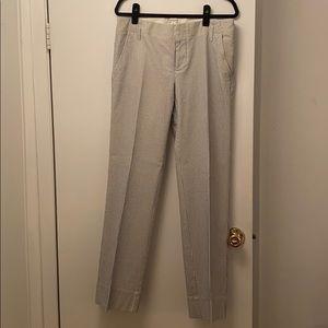 Blue/white seersucker pants